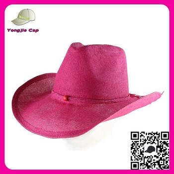 1498014e9bd Wide brim Roll up brim Design your own Pink Paper mexican bulk straw cowboy  hats