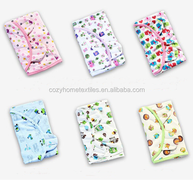 2017 New Style Baby Swaddle Blanket Wrap Set 100% Cotton Baby Muslin Swaddle Wrap for New Born Baby