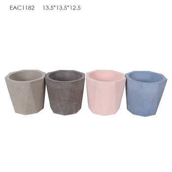 Home decoration garden pot indoor planters concrete geometrical vase buy concrete geometrical - Best compost for flower pots solutions within reach ...