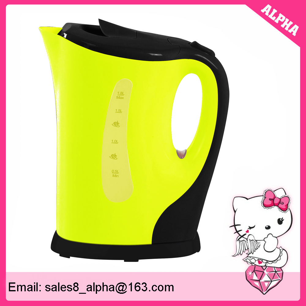 1.7 liter 110v plastic electric water kettle with unconcealed heating tube
