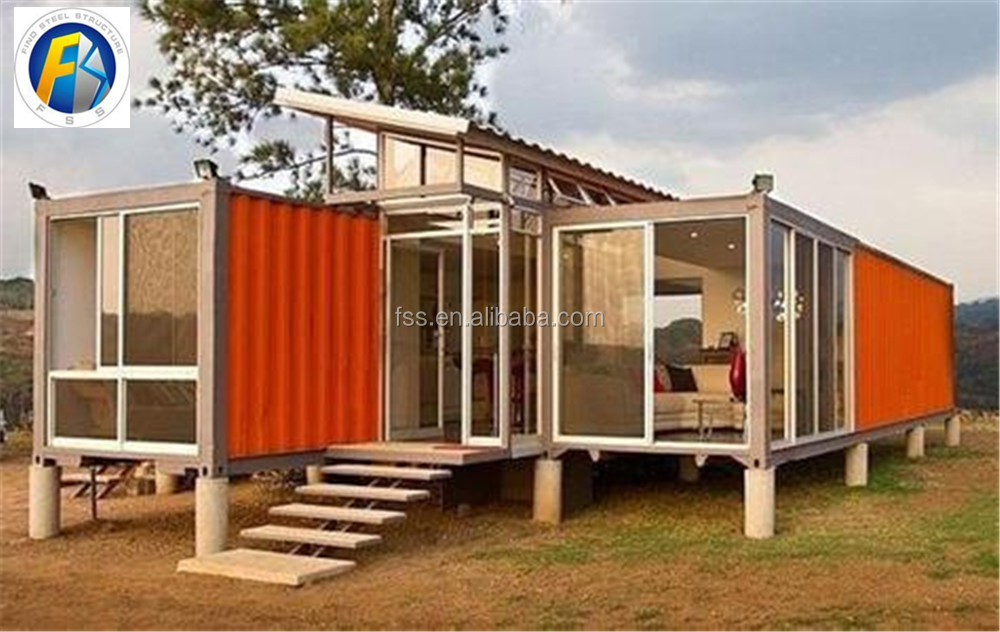 Container restaurant 40ft exp dition prix de conteneurs for Taille container maison
