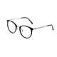 FONHCOO Fashion Thin Temple Black Round Frames Anti Blue Light Blocking Computer Eye Glasses