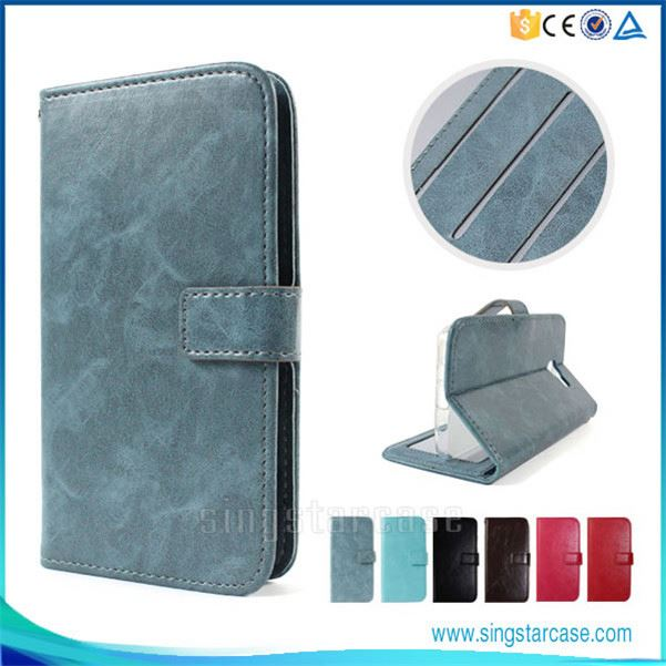 Wholesale Simple Flip Leather Mobile Phone Cover Case For Toshiba REGZA Phone T-02D