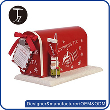 Casting Craftsman. Customized red usa mailbox/ cast iron christmas postboxmailbox
