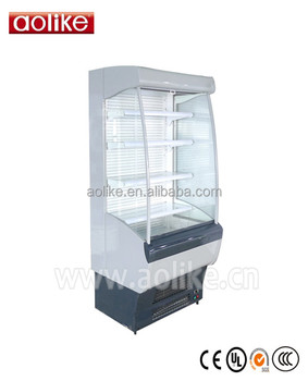 Supermarket Commercial Display Open Chiller Air Cooler for Drinks Fruit