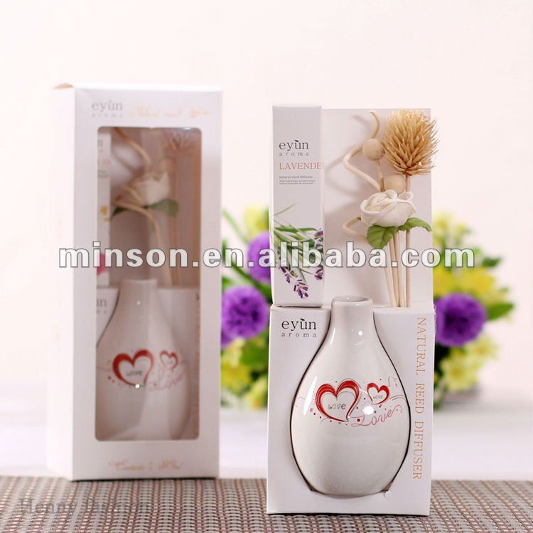 Aroma Oils Reed Diffuser Set with Ceramic Bottle