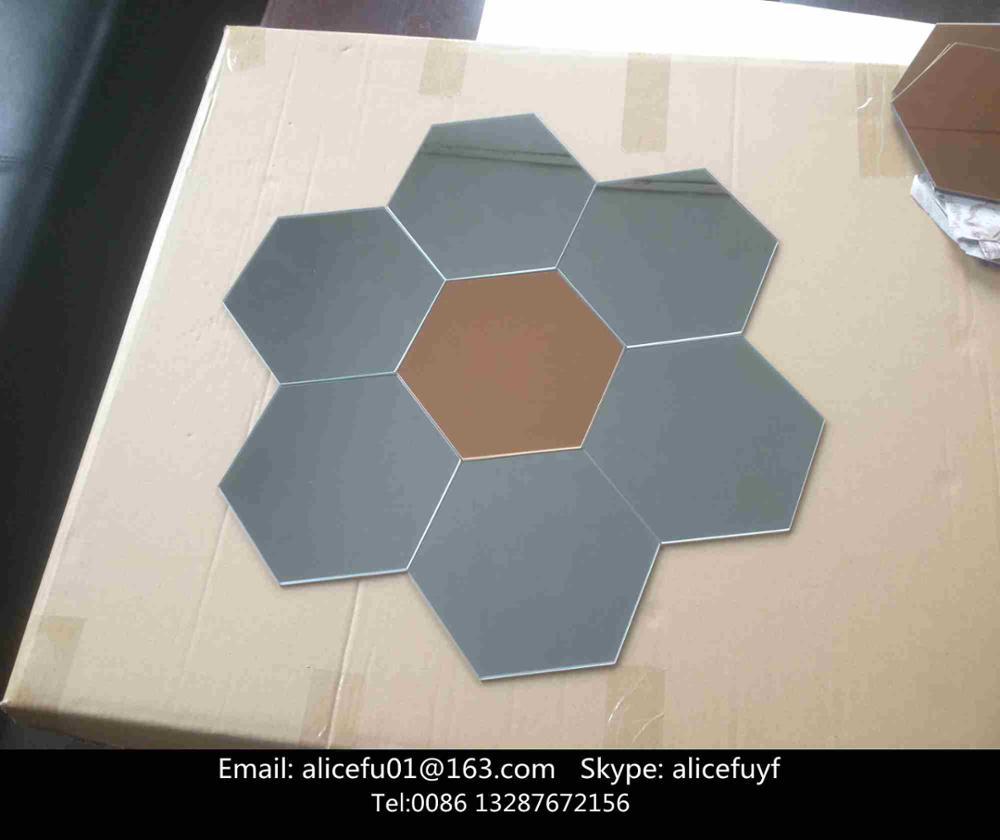 Hause Dekorative Grau Und Bronze Farbigem Klebstoff Sechseckige ...