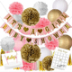 Amazon's Hot Sale Pink Theme Party Decorations IT'S A GIRL BABY SHOWER