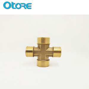 BSP Male 4 Way Brass Equal Cross Fitting
