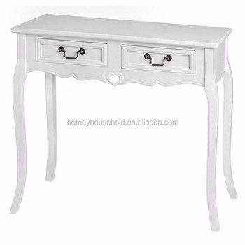 Hardware Wooden White Console Table