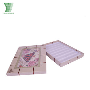 Decorative Butterfly Pink Paper With Plastic Tray For Kids Birthday Chocolate Gift Box