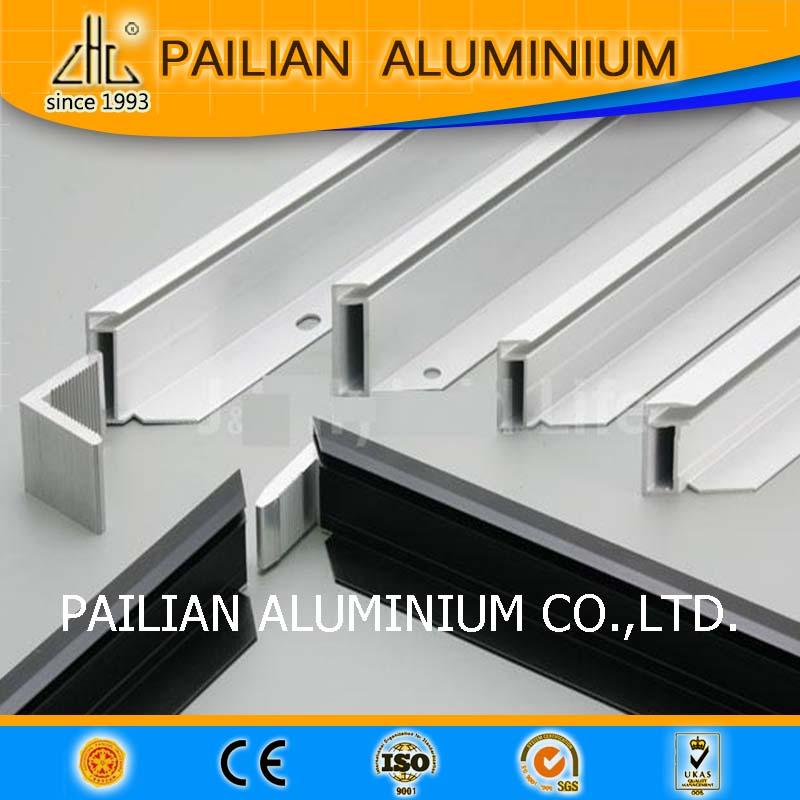 Anodizado extruido 6063 panel solar perfil, perfil de aluminio para ...