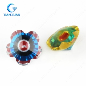 flower shape multi beautiful color excellent joint cubic zirconia loose stone