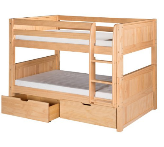 Solid Pine Wood Twin Double Bunk Bed Twin Bunk Bed For