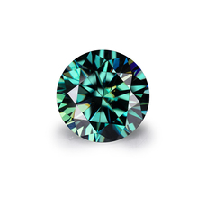 Round brilliant cut loose gemstones excellent quality moissanite 3ct dark green moissanite