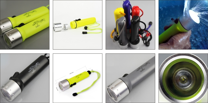 2015 hot sale plastic powerful and cheap led flashlights for diving