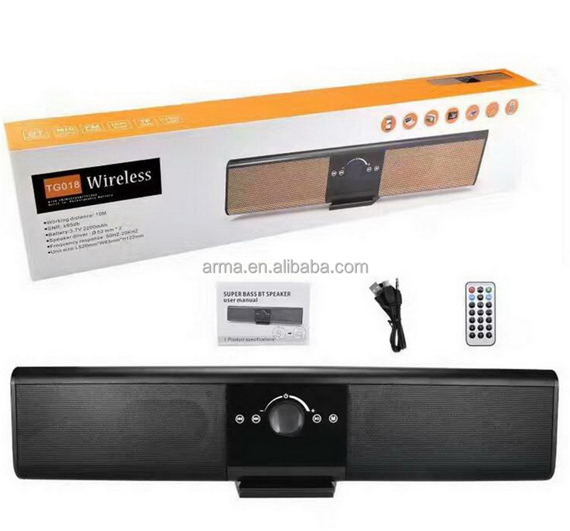 3D Stereo Wireless Speaker Soundbar with Remote Controller Karaoke Radio FM TF USB MP3 Music