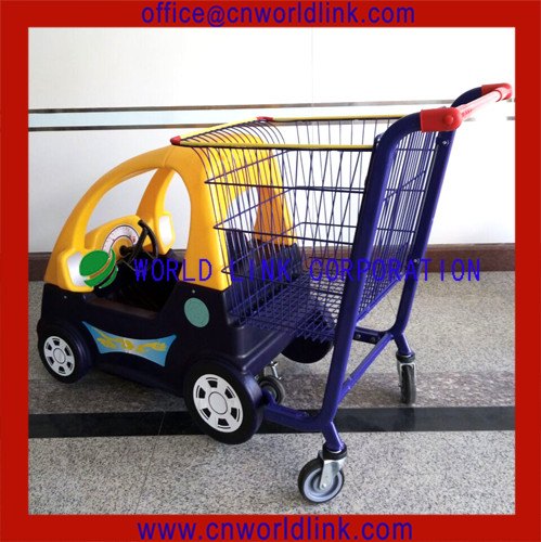 5 Wheels Rolling Kids Shopping Trolley With Toy Car