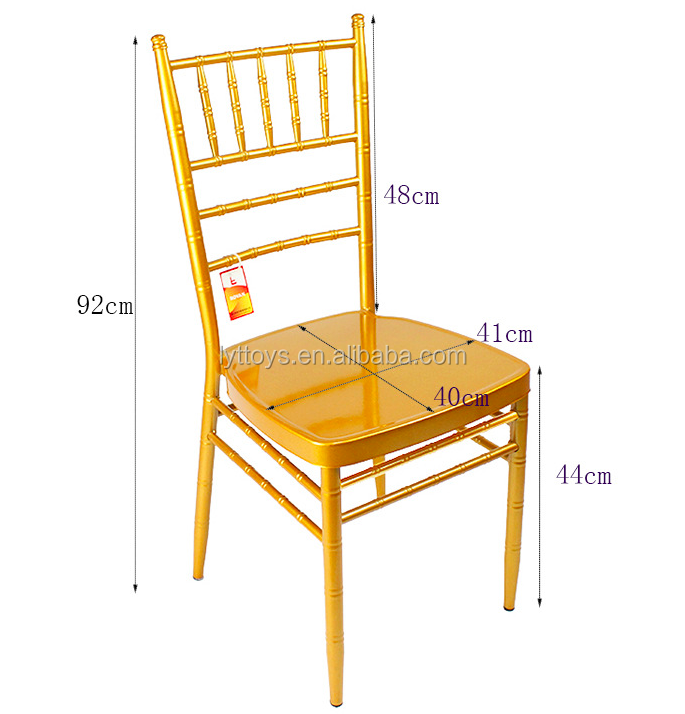 Factory manufacturer hotel banquet gold tiffany chivari chair plastic for outdoor