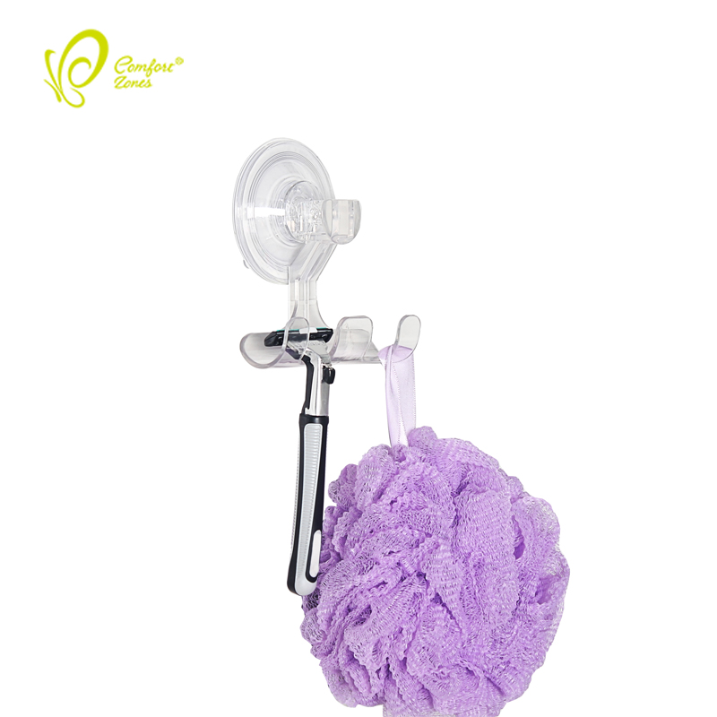 Removable Plastic Suction Cup Towel Hook Wall Mount Hangers Towel