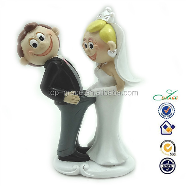 Resin Funny Sex Cartoon Wedding Cake Topper View Funny Sex Cartoon Wedding Top Grace Product Details From Quanzhou Top Grace Arts Crafts Co