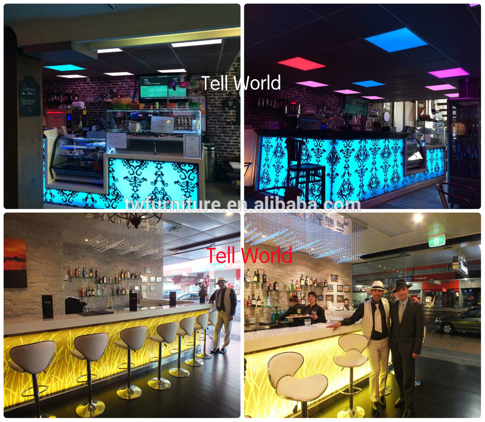 Modern Juice Coffee Shop Refrigerated Bar Counter For Sale
