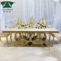 Commercial furniture luxury dining room stainless steel wedding table