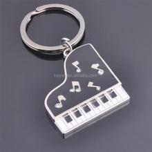 Promotional Gifts Customized Blank Piano Shape Metal Keychains