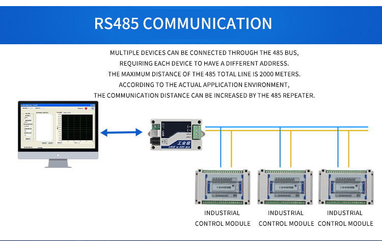 Industrial controller switch rs485 relay module