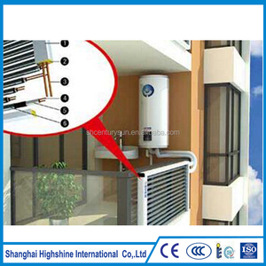 Super Thermal U Heat Pipe Split and Pressurized Balcony Wall Mounted Solar Water Heating System for High Building