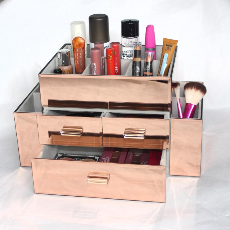 New Wholesale Custom Beauty Glass Large Mirrored Makeup