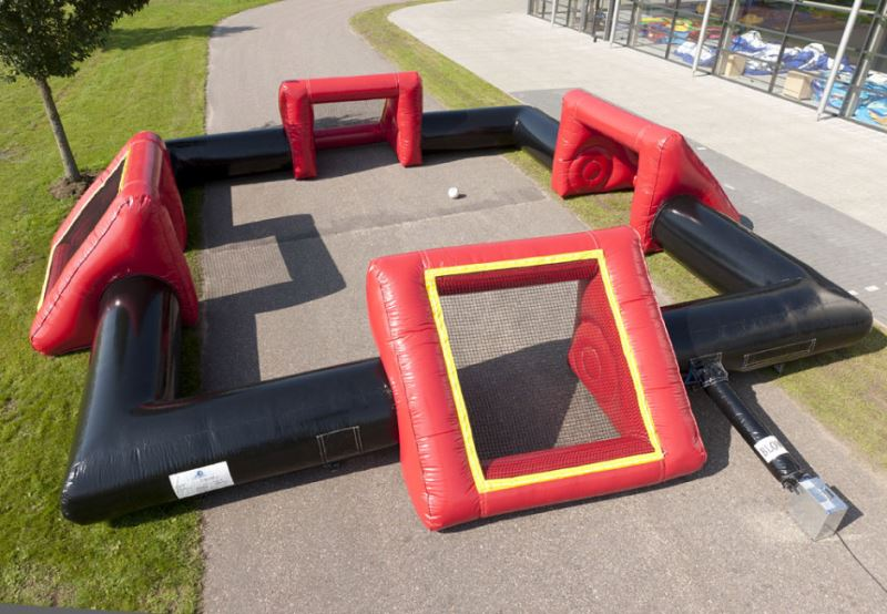 SOCCER FIELD MULTIPLE GOALS inflatable games