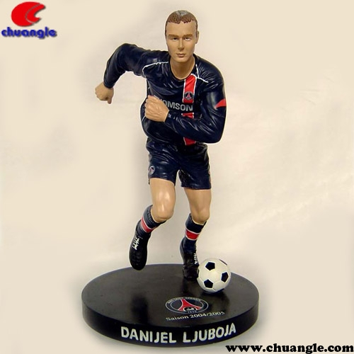 Football Player Statue, Action Figurine, Soccer Player Figure