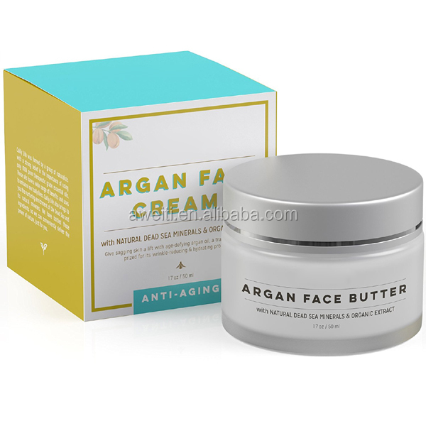 Ageless Hydrating Organic Argan Oil Face Cream with Dead Sea Minerals