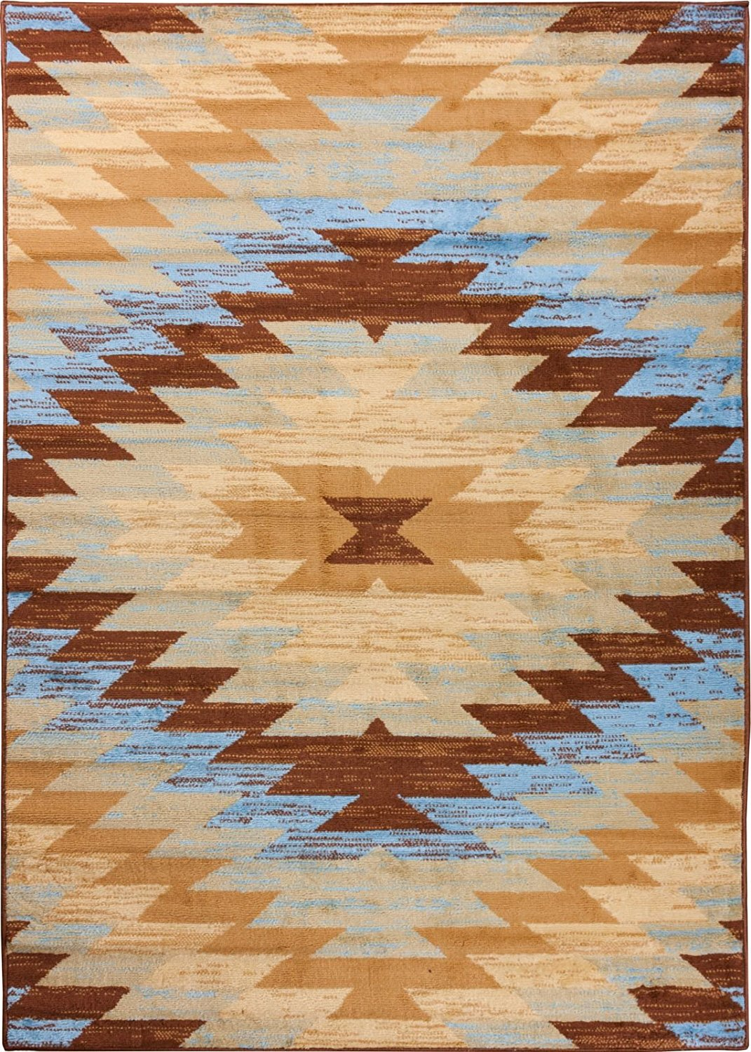 Well Woven Miami Alamo Southwestern Blue Southwest Area Rug 8'2'' X 9'10""
