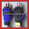 Custom design Gel padded Fingerless Mechanical Gloves