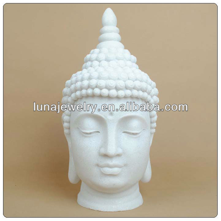 Polyresin concrete staute molds buddha head for sale,white buddha satue
