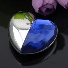 Blue Diamond Heart Style Pendrive 64gb USB Flash Drive 1TB 2TB Pen Drive 128gb 16gb Memory Stick Usb Creativo Gadget Luxury Gift