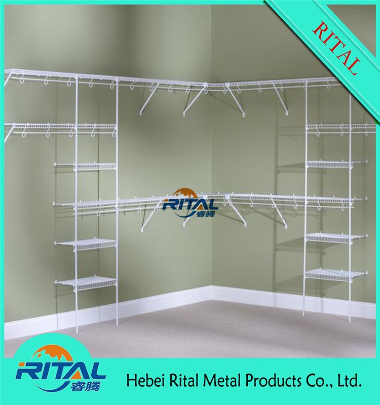 metal wire shelf for closet shelving systems