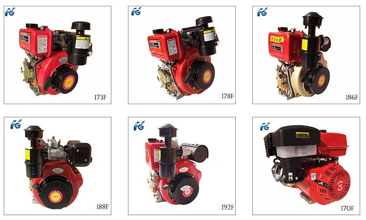 1 cilinder 178f enkele dieselmotor 6.5hp zeer micro kleine dieselmotor generator
