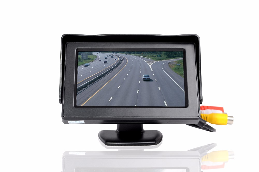 2 Video Input Car Parking Rear View Monitor For Rearview reverse High quality 4.3 inch TFT LCD Car Monitor