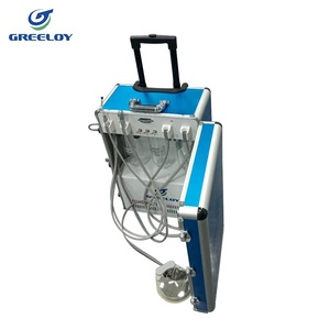 Portable Dental Unit with Light Cure Units and Diamond Burs Handpiece