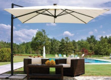 Solar Panel Outdoor patio Umbrella