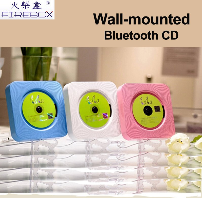 shenzhen hot selling portable wall mounted bluetooth CD mp3 player with FM/USB/AUX