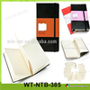 WT-NTB-385 Notebook leather folder with elastic closure