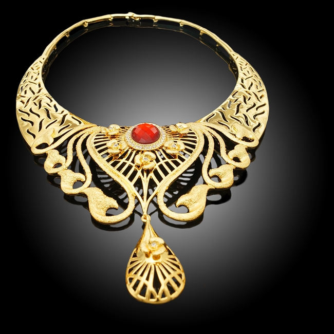 18k Besar Berlapis Xoxo Perhiasan Set Terbaru Desain Segar ...