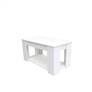 White Exotic MDF Wooden lift up High Glass Coffee Table
