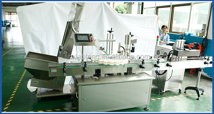 Low speed stainless steel screw aluminum cap capping machine