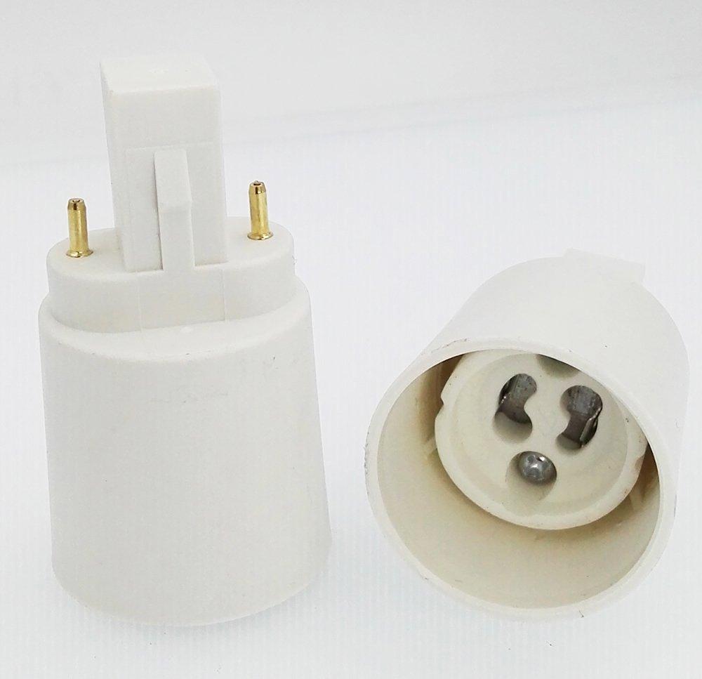 15-pack E-simpo® G23 to Gu10 Lamp Base Converter, G23-Gu10 Adapter, Need bypass the ballast, Install Gu10 LED Spotlight in G23 or Gx23 socket. Rohs (G23-Gu10)