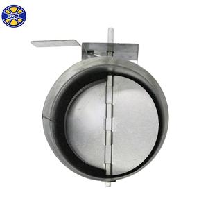 Round Manual Galvanized Steel Air Duct Volume Control Damper for HVAC System
